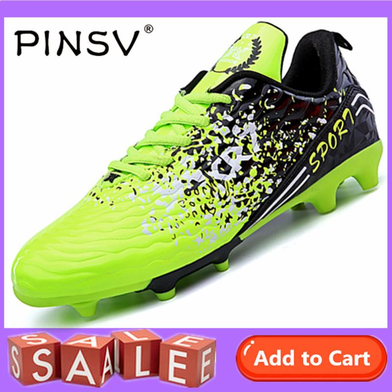 a0310348e PINSV Shoes for Little Big Kids Soccer Shoes Football Shoes Indoor Football  Boots - intl