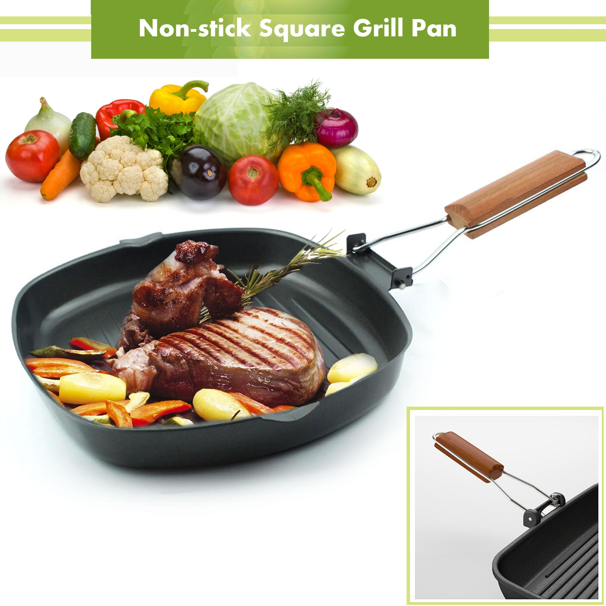 28Cm Meat Grill Griddle Pan Marble Stove Hob Cooking Kitchenware Steak Burger Huis