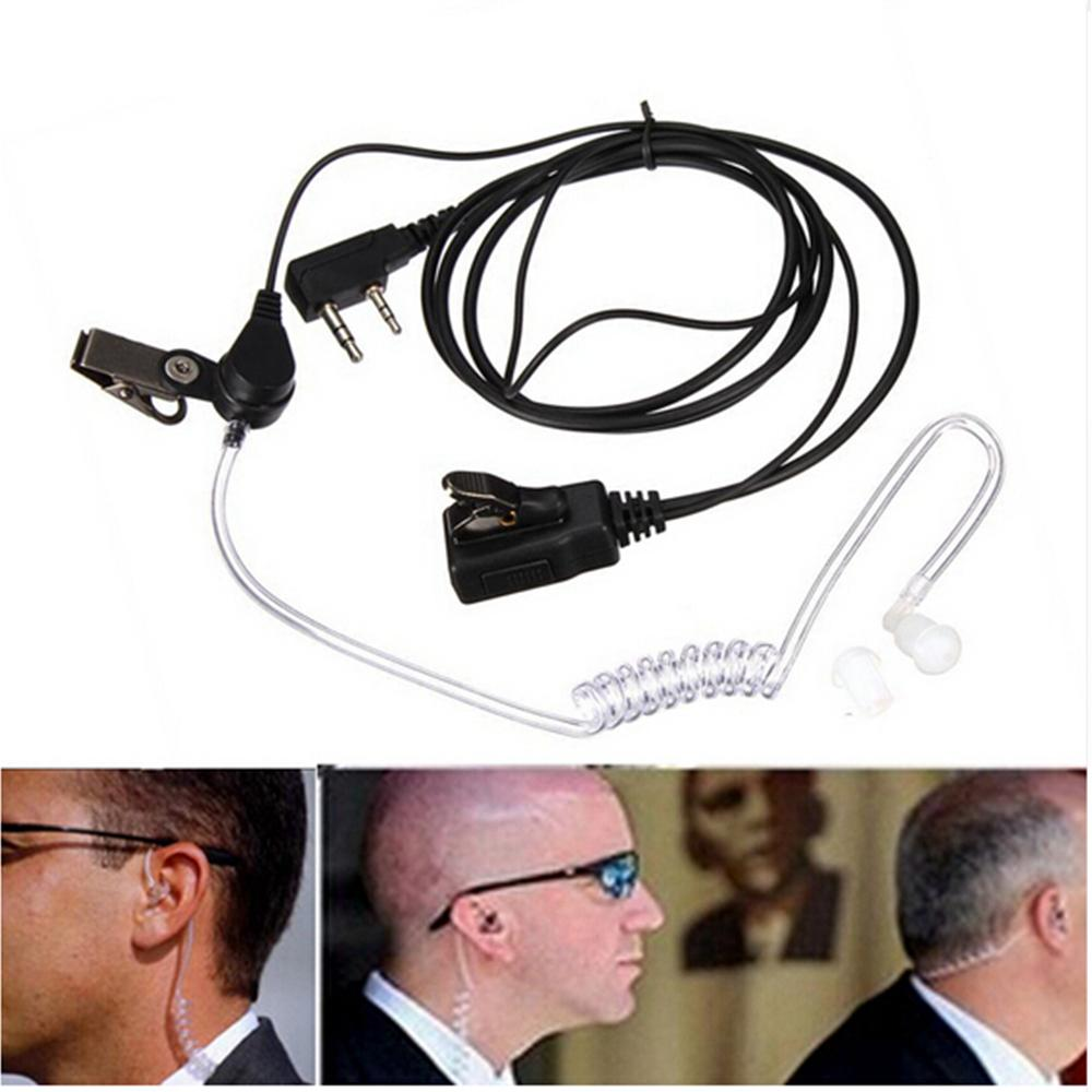 2 Pin Covert Acoustic Air Tube Mic Microphone Earphone Earbud Headset Earpiece Headphone For Kenwood Baofeng