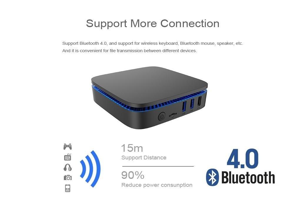 Intel Quad Core Apollo Lake Celeron J3455 Windows 10 Mini PC with 4GB DDR3L  RAM 64GB EMMC ROM 2 HDMI