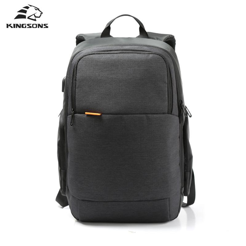 78ac26c320c1 Kingsons KS3143W Brand External USB Charge Travel Backpack Anti-theft  Computer Bag 15.6 inch Solid