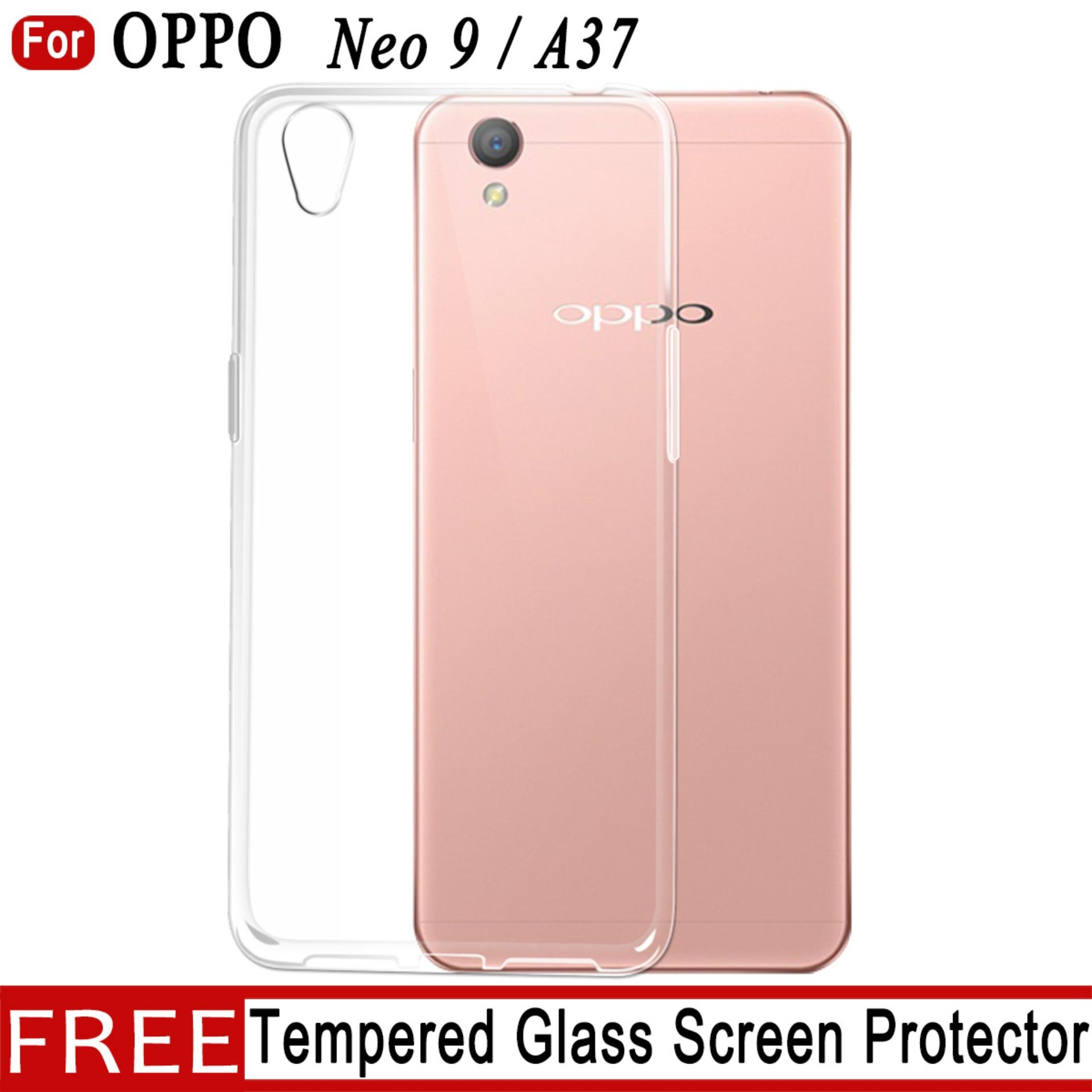 Buy Sell Cheapest Oppo A37 Neo Best Quality Product Deals Case Jelly Free Tempered Glass For 9 Clear Soft