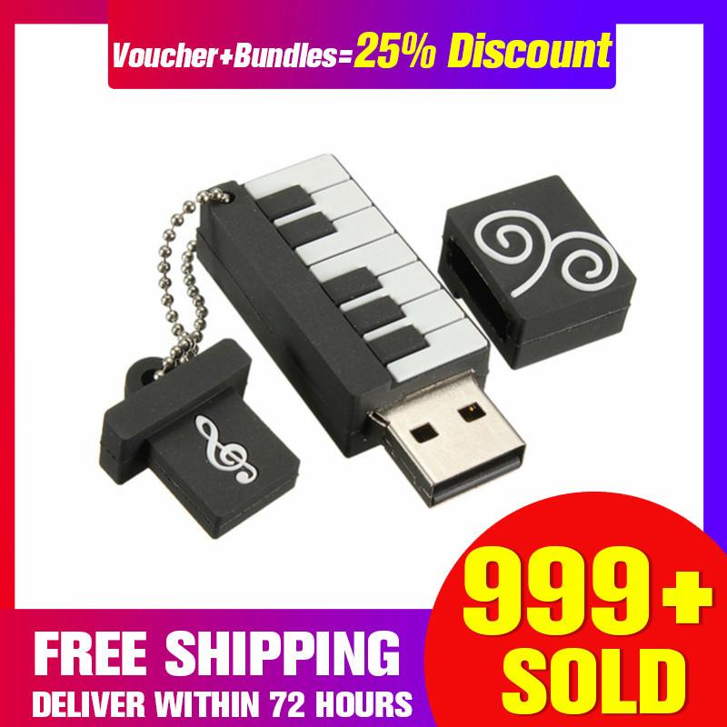 【free Shipping + Super Deal + Limited Offer】64gb Usb 2.0 Elegant Piano Model Flash Memory Stick Storage Thumb Pen Drive Gift - Intl By Autoleader.