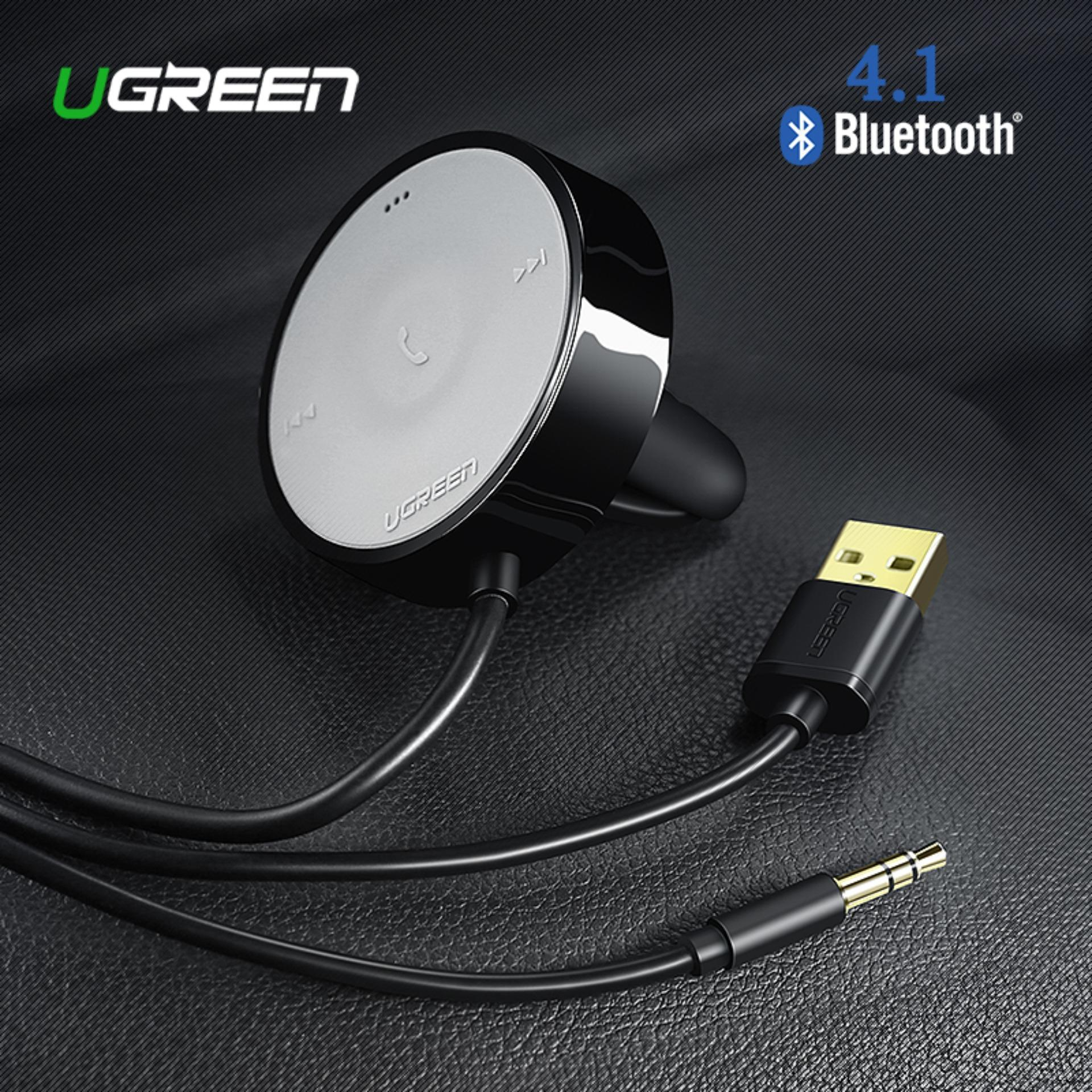 Ugreen Usb Bluetooth Receiver Car Kit Adapter 4.1 Wireless Speaker Audio Cable Free For Usb Car Charger For Iphone Handsfree-Black By Ugreen Flagship Store.
