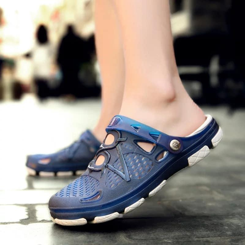 Fj Men Jelly Shoes 802 (blue) By Fj Fashion House.