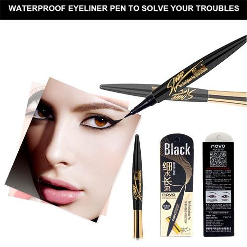 NOVO Eyeliner Ultimate Black Liquid Eyeliner Long-lasting Quick Dry Waterproof Eye Liner Pencil Pen Nice Makeup Korean style Cosmetic Tools Philippines
