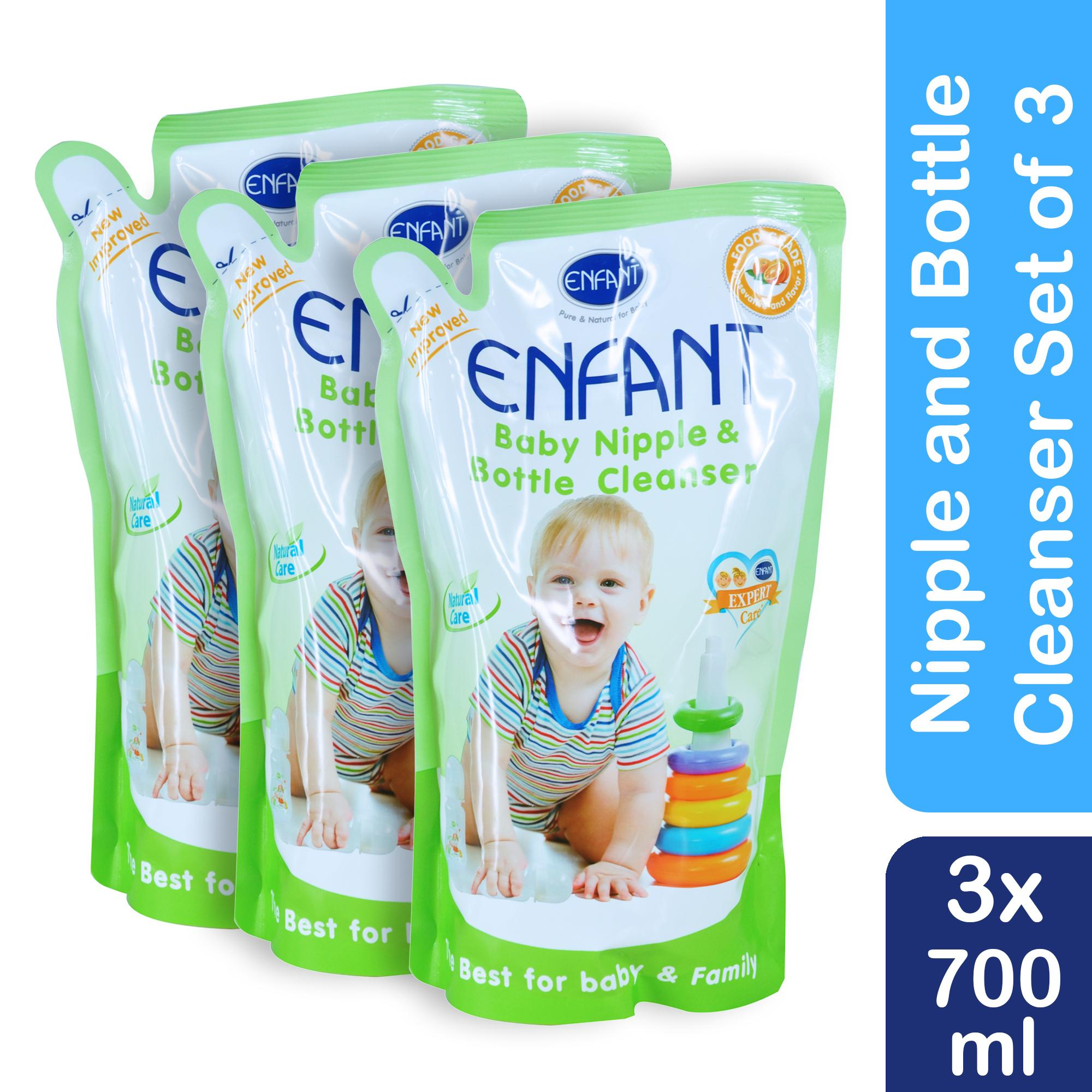 Enfant Nipple And Baby Bottle Liquid Cleanser 700 Ml (pack Of 3) By Enfant Specialty Shop.