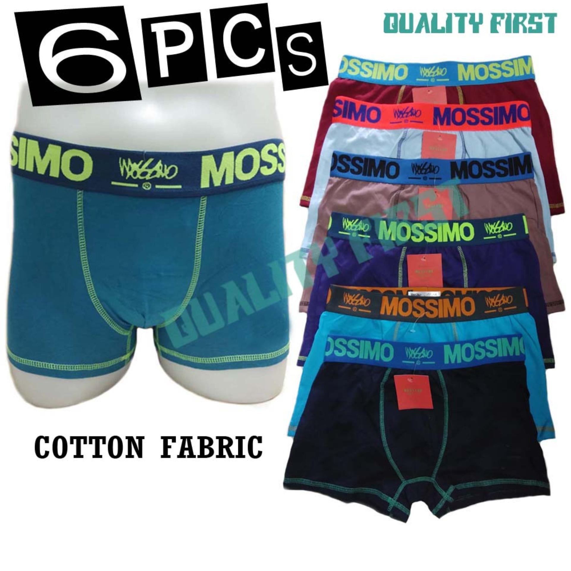 Lot Of 6 Cotton Boxer Brief For Men By Quality First.