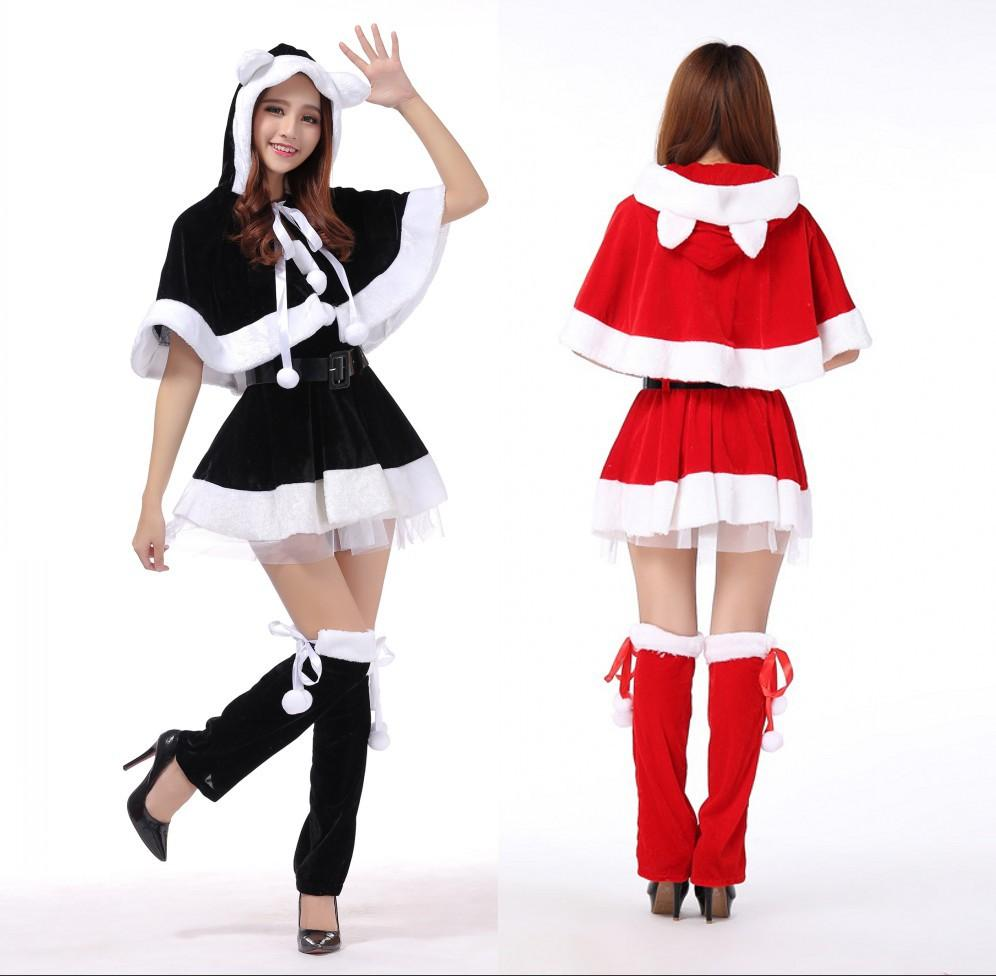 Women Christmas Costume Santa Claus Cosplay Clothing For Christmas Party  dress Performance Uniform bce8d7dc45
