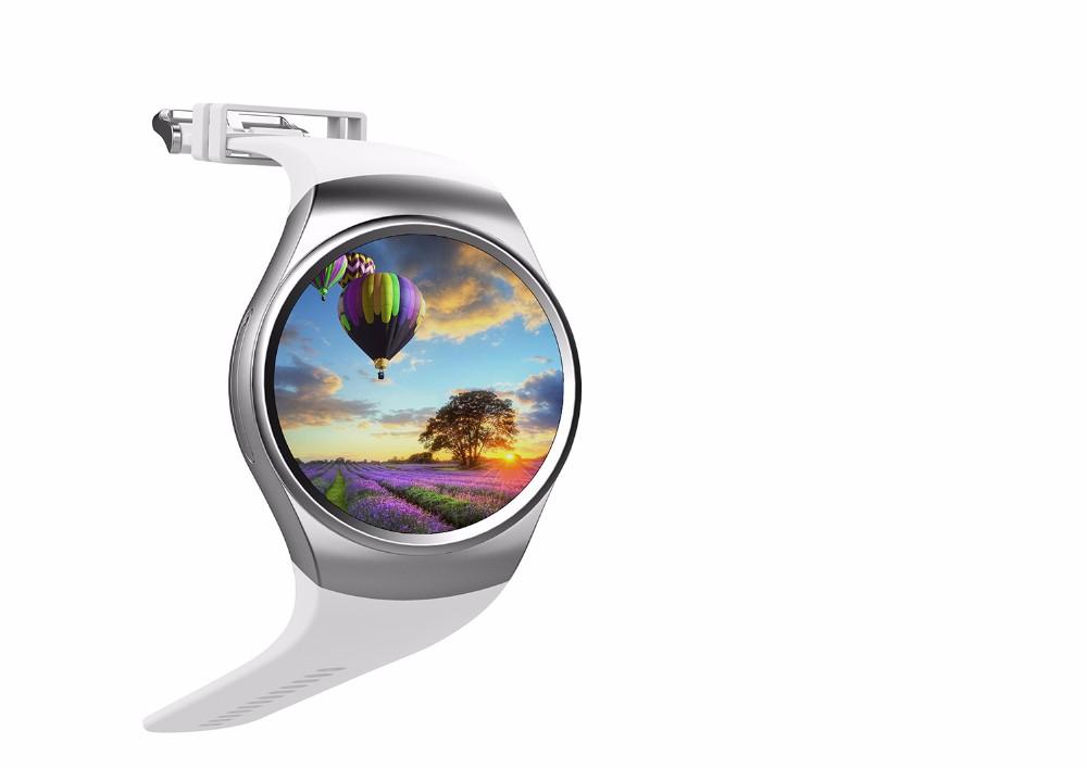 2016 Newest Round Smart Watch kw 18 Android Sim Card smart wacht KW18  MTK2502C BT4 0 Heart Rate Monitor Smartwach for men Hebrew Black - intl