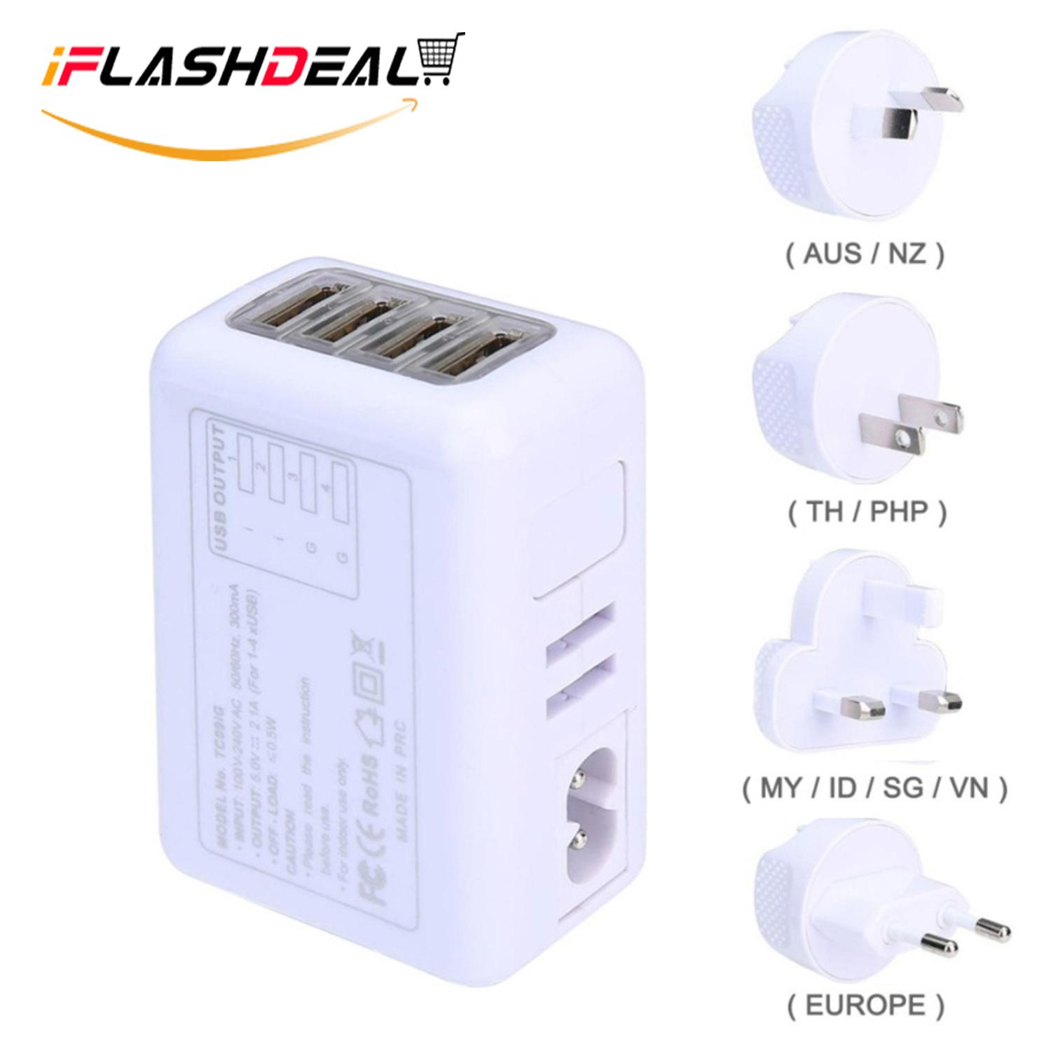 Travel Adapter For Sale Sockets Online Brands Prices Wall Outlet Ports Plugged Wiring Devices Home Office Ac Usb Device Iflashdeal Universal Adaptor Internasional 4 Port Plug Power Charger