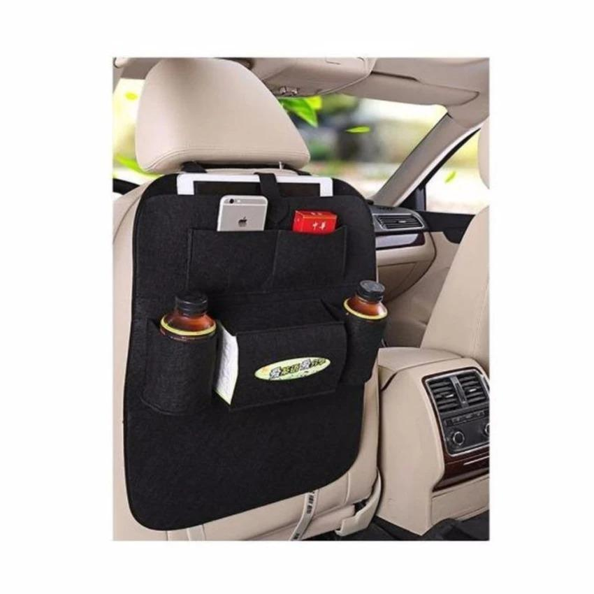 Car Seat Felt Cloth Hanging Organizer Back Storage Black