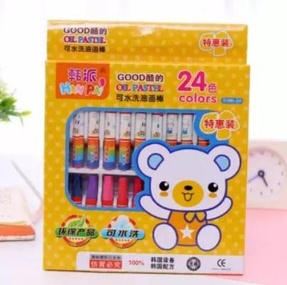 24 Colors Non-Toxic Oil Soft Pastel Childrens Galley Drawing Crayons Set Kids 238g By Beauty Credit Gift Shop.