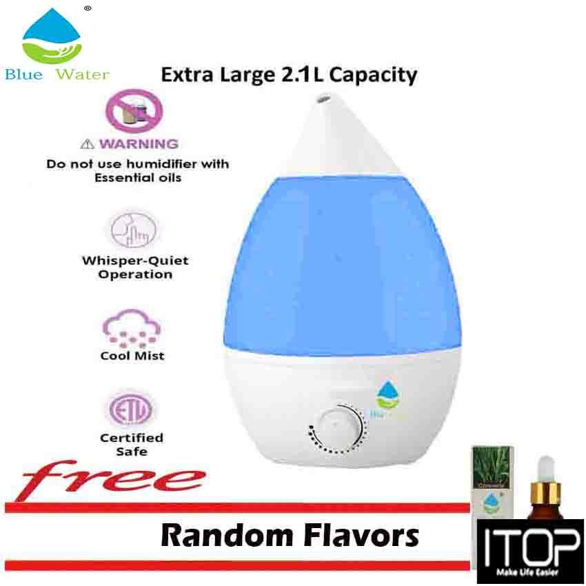 Itop Ultrasonic Wave Humidifier Blue Water 2.1l By Itop.