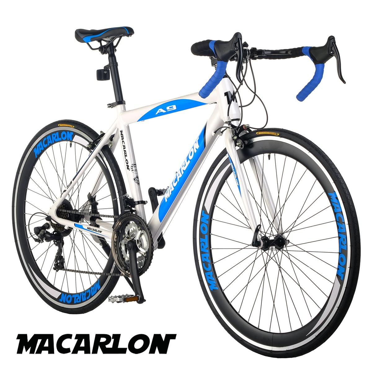 85e305c7c7a Macarlon A9 700C Shimano 21-Speed Alloy Road Bike (Gloss Pearlized  White/Blue