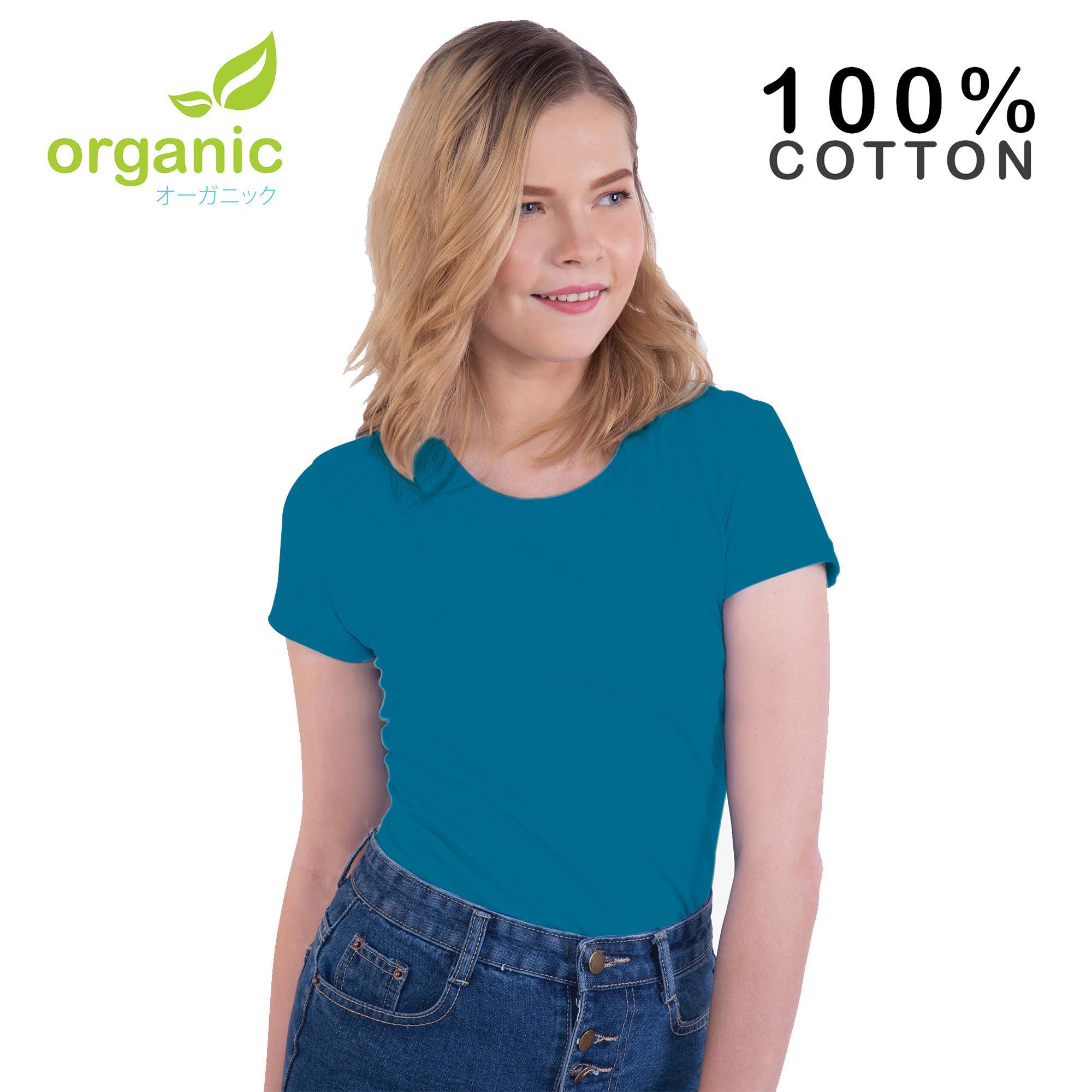 Organic Ladies 100% Cotton Round Neck Fashionable Tees t shirt tshirt  shirts tshirts blouse tops 6356ca8342