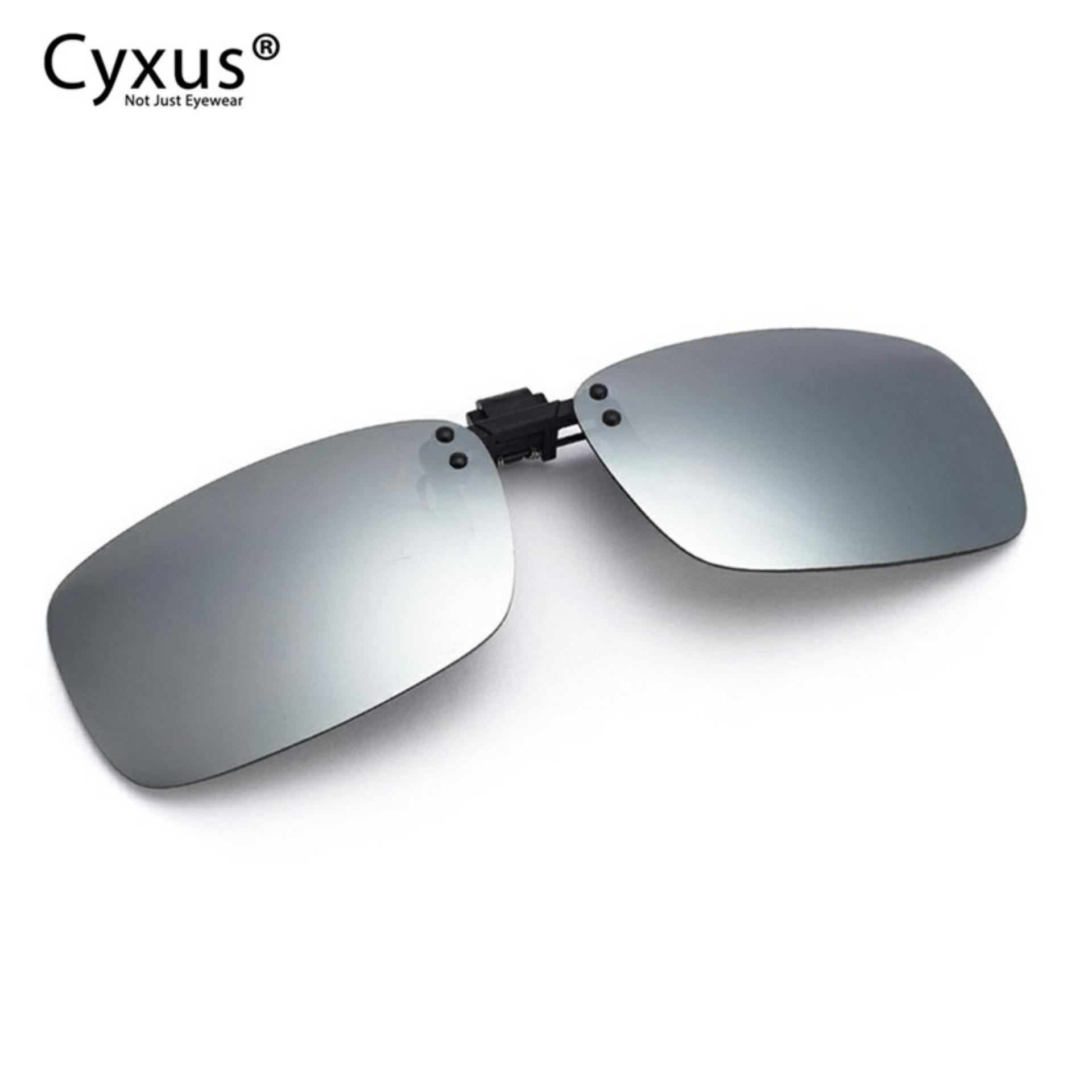 68c6af689bb1 Cyxus Polarized Lenses Clip-On Rectangle Sunglasses Driving/Fishing Outdoor UV  Blocking Anti Glare