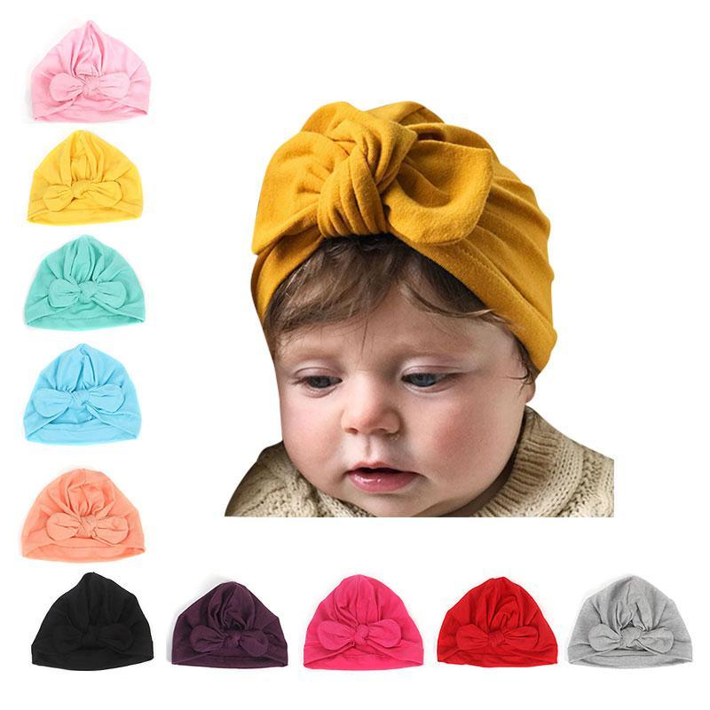 For Newborn Toddler Kid Baby Indian Turban Knot Velvet Beanie Hat Cap Unisex US