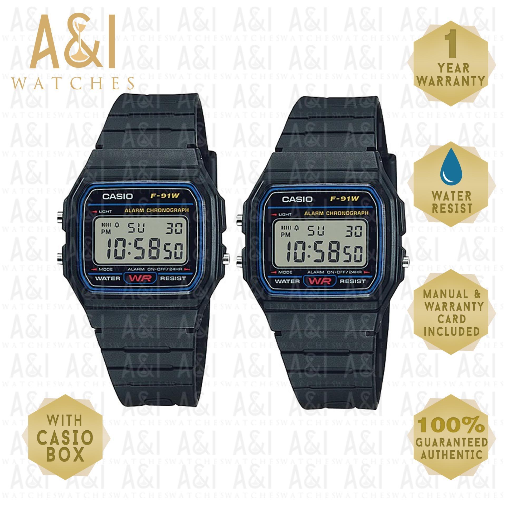 Casio Philippines Watches For Sale Prices Reviews Lazada Jam Tangan Wanita Aw 48he 1avdf Original Couple Classic F 91w 1dg 1yr Warranty