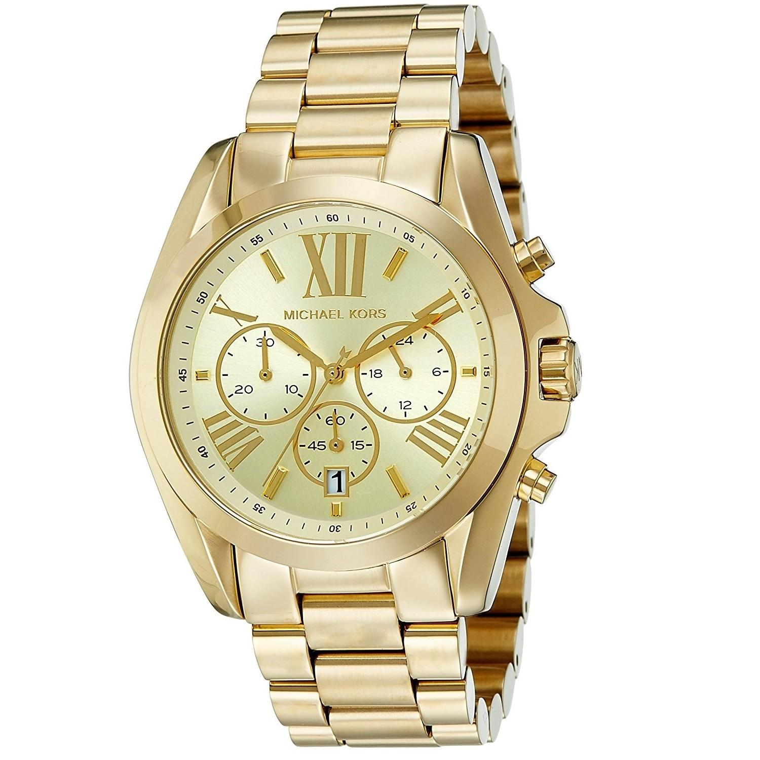 500537fd8c89 MK Michael Kors Oversized Bradshaw MK5605 (All Gold) Stainless Steel Strap  Watch for Men