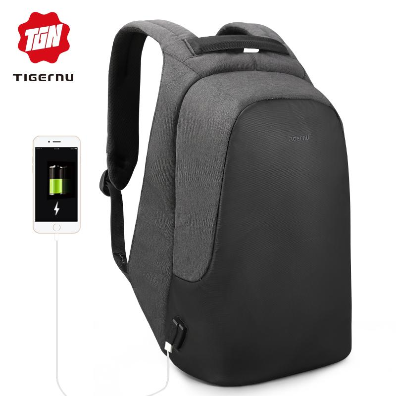2419a2b232 Tigernu Anti theft Water resistant Fashion backpack 10.1-15.6 inches USB  Charger Men bag women