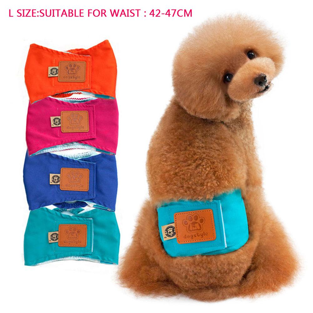 Kobwa Cute Washable Male Pet Dog Diaper Underwear Cotton Shorts Sanitary Dog Hygiene Physiological Pant Panties