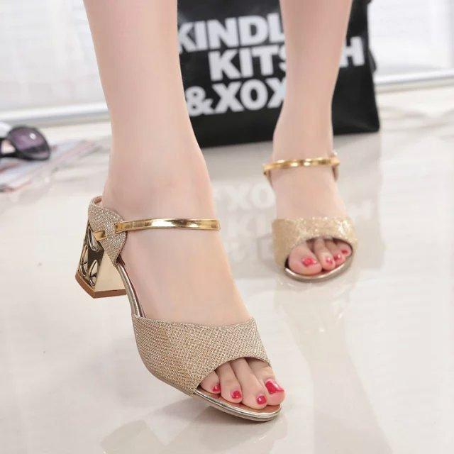 Sandals women during the Start And with 2018 Summer New Style Korean Style  Versatile High Heels 941b5f227ed7