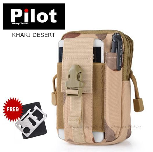 Special Promo!!!pilot Army Fans W-002 Tactical Multi-Function 5.5 Inches Phone Mobile Waist Bags Men Outdoor Sport Casual Mini Waterproof Pack Purse Training Scouts Camping Hiking Mens Best Gift Free Army Multi-Function Card By Pilot Luxury Travel Shop.