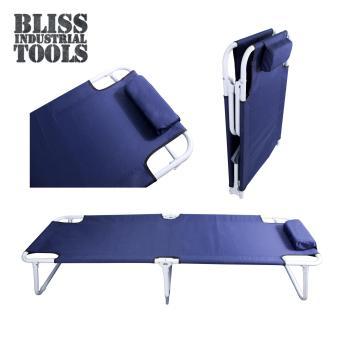 B.I.T. Heavy Duty Durable Portable Folding Bed (Navy Blue)