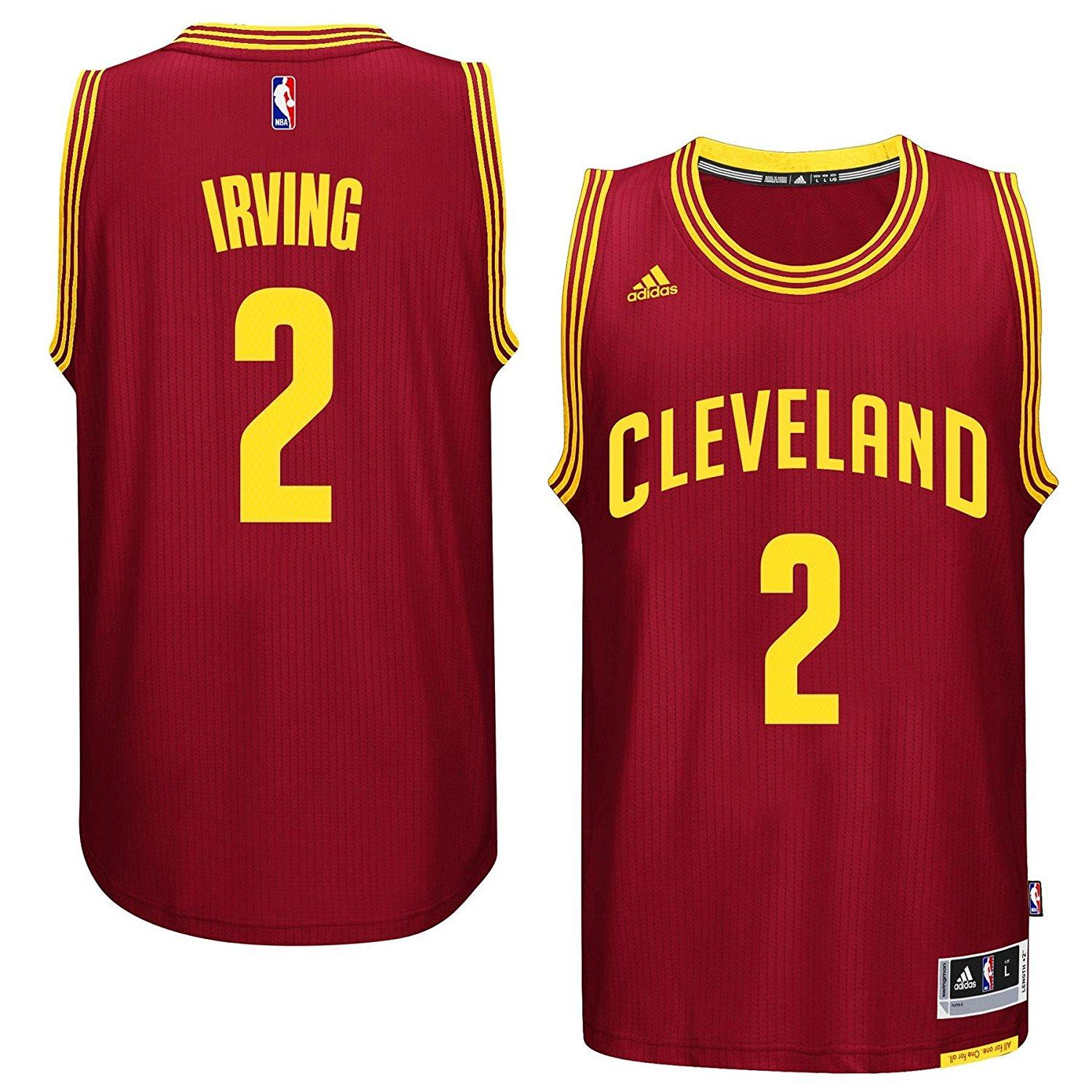 Offical Kyrie Irving  2 Men s NBA Cleveland Cavaliers Black Basketball  Jersey d14d997a0