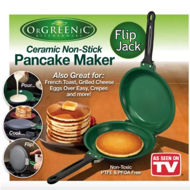 As Seen On Tv Orgreenic Ceramic Non-Stick Pancake Maker By Bodybuy.net.