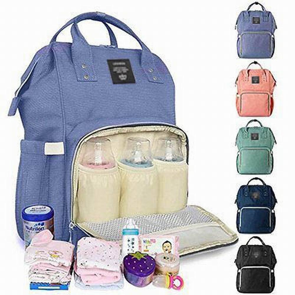 Mommy Bag Backpack Large Capacity Nappy Bag Waterproof Diaper Backpack  Multipurpose Travel Bag 7c4cbc7743490