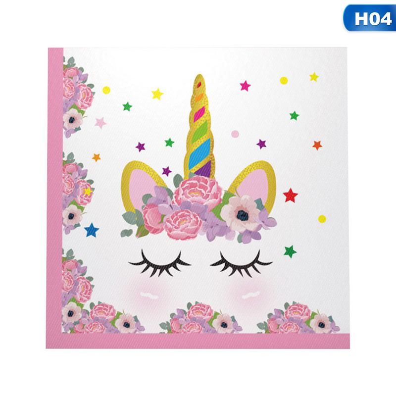 New Lovely Unicorn Printing Fashion Birthday Party Decorative Items H14