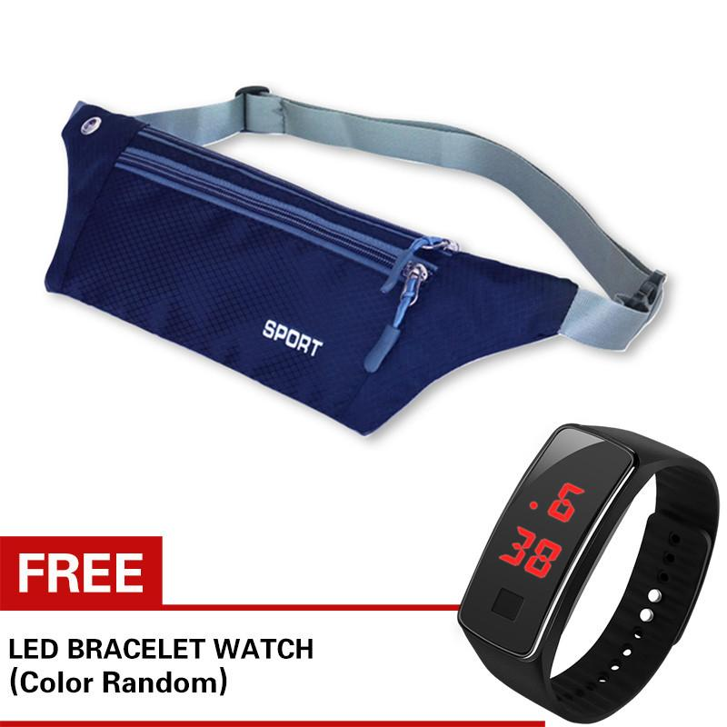 6b87880103 Waterproof Waist Bag Running Pocket Bag Sports Travelling with Free LED  Watch