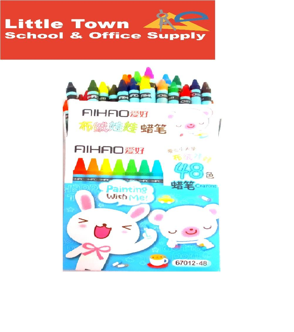 AIHAO Kids Crayons 48 Assorted Colors 8mm