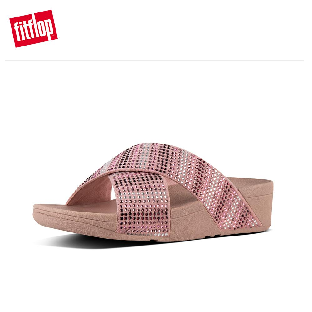 07acdff7c2542 Fitflop Women s Sandals L19 STROBE SLIDE SANDALS LEATHER DRESS lightweight  comfort fashion New