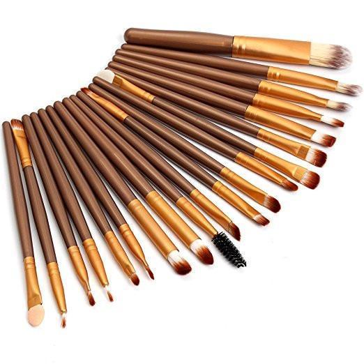 20Pcs Comestic Eyeshadow Makeup Brushes Set (Gold) Philippines