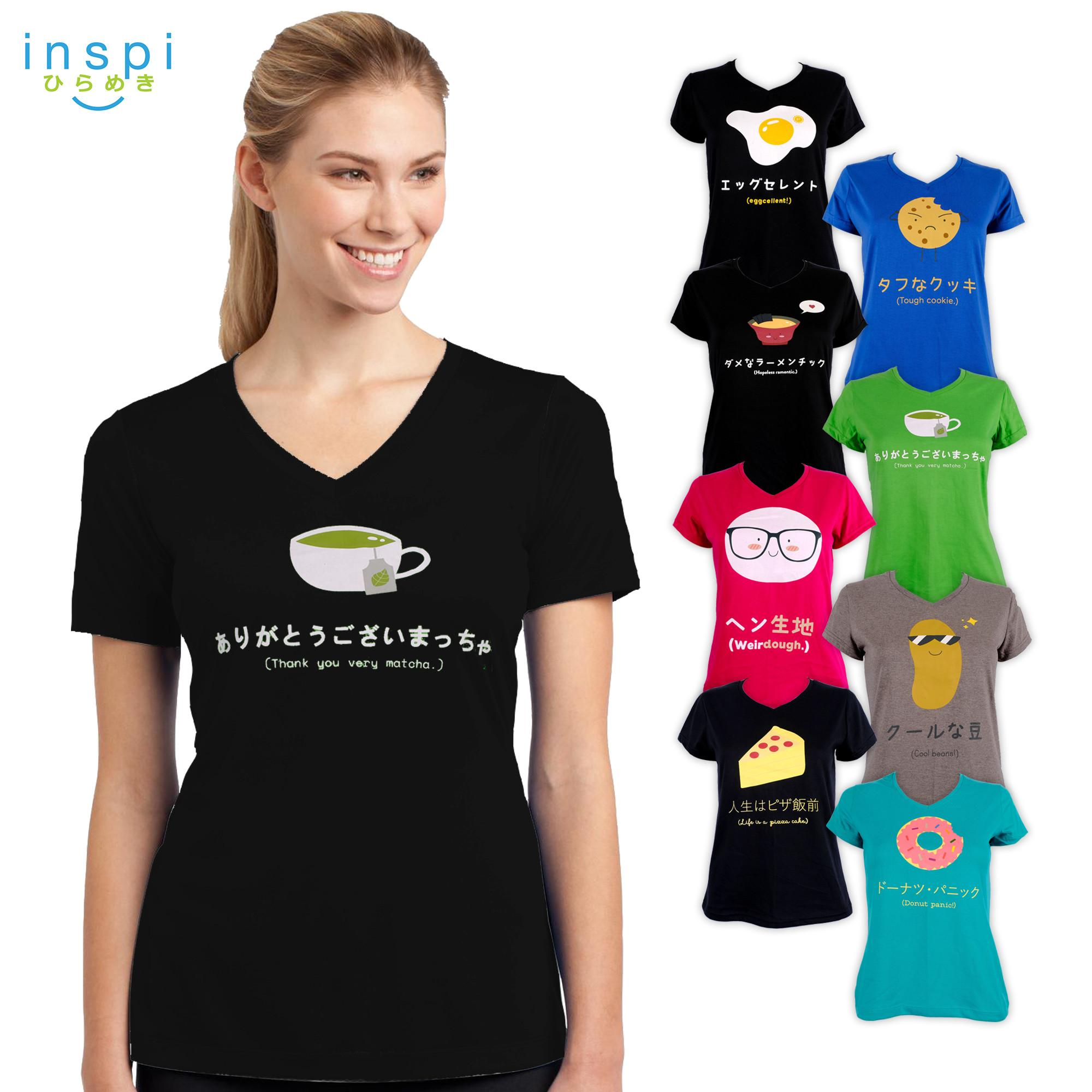 70f6dc7c48041d INSPI Tees Ladies Food Pun Collection tshirt printed graphic tee Ladies t  shirt shirts women tshirts