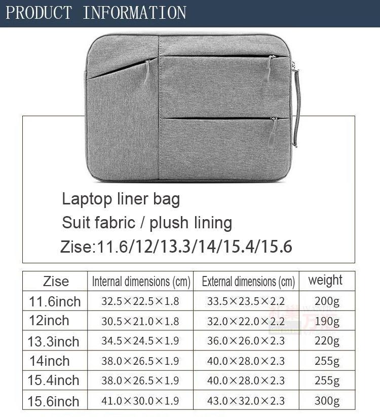 Adl Laptop Bag Portable Multifunction Sleeve Minimalist Business