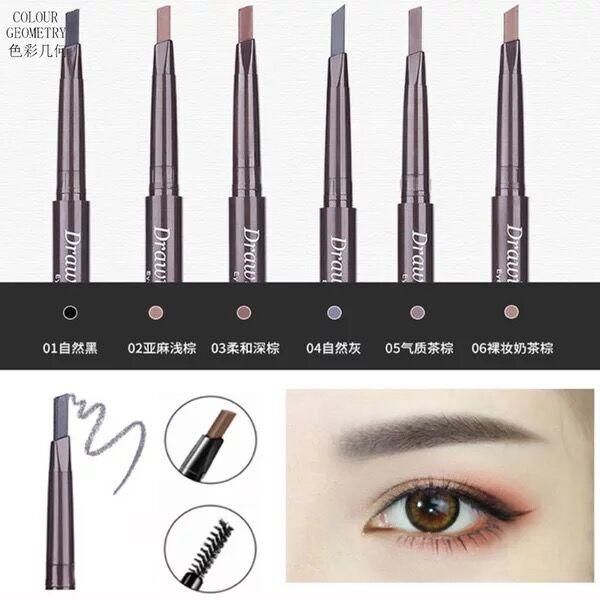 Waterproof Automatic Rotation Eyebrow Pencil (Dark Brown) Philippines