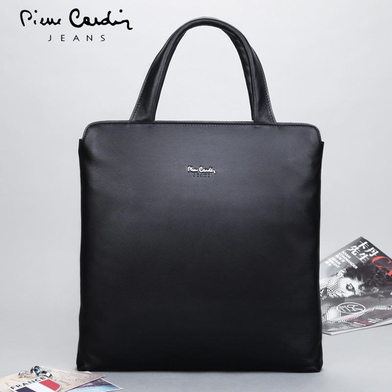 Pierre Cardin Men s bag bags Leather Handbag Briefcase Computer bag bags  Full-grain Leather Soft c0f5da4cf28c6
