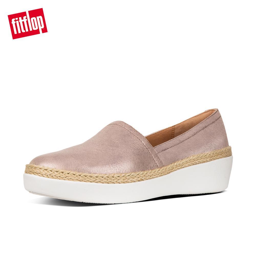 229e0e242fd7 FitFlop Women s Shoes K90 Casa Loafers - Metallic Leather Ergonomic  Comfortable Flats