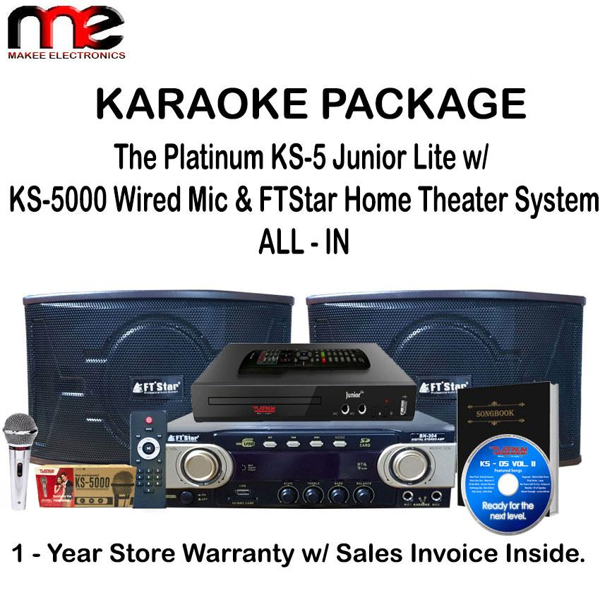 The Platinum FTStar KS-5 Junior Karaoke 9709 Songs & BN-304 Karaoke Package