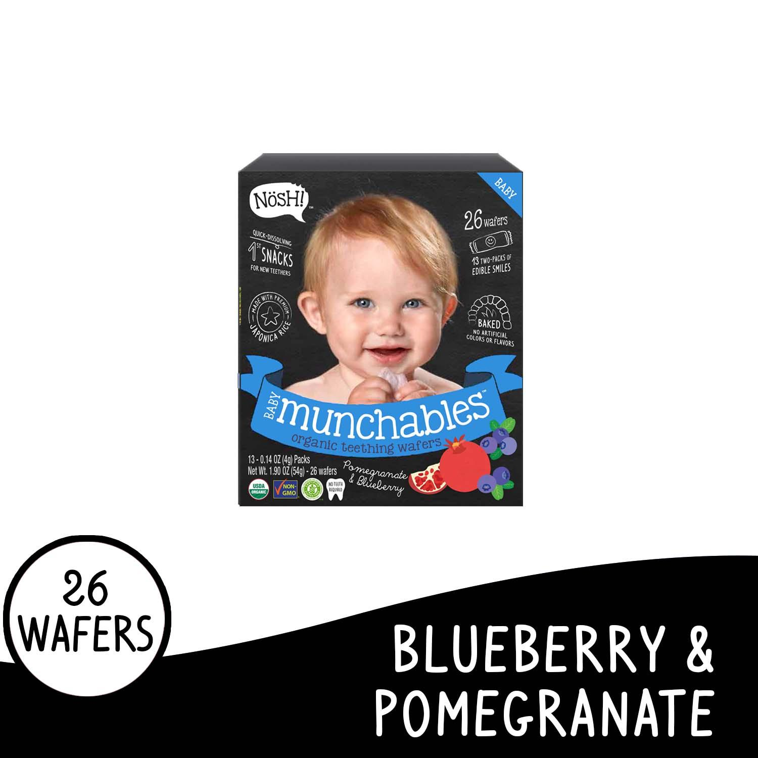 Nosh Baby Munchables Blueberry Pomegranate By Nosh Baby Ph.