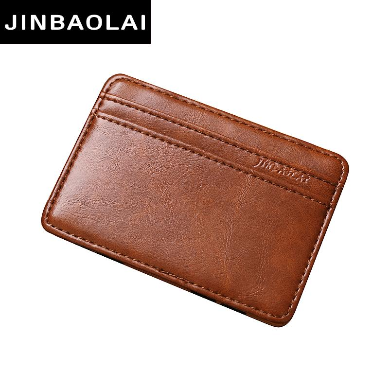 fa8b985a3f2d Brand Fashion Vintage Style High quality PU leather magic wallets mini  multifunctional card holder magic wallets