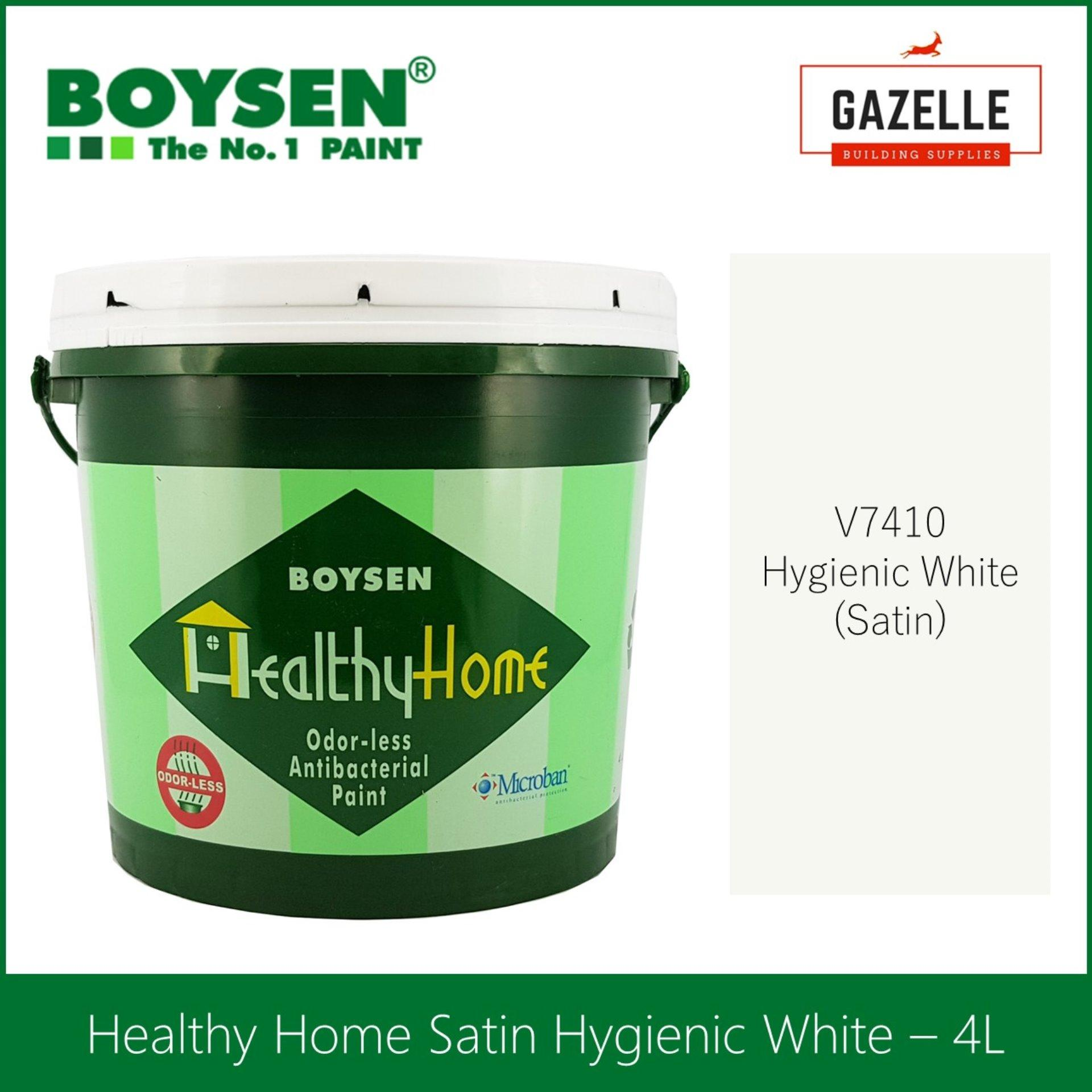 Boysen Healthy Home Odorless and Anti-Bacterial Paint Satin Hygienic White  - 4L
