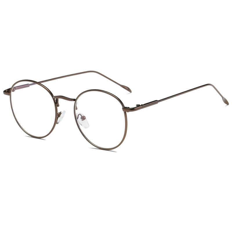 1cce38aad Chuangpai round Frame Vintage Myopia Glasses Korean Style Fashion a Full  Frame Nearsighted Glasses man Radiation