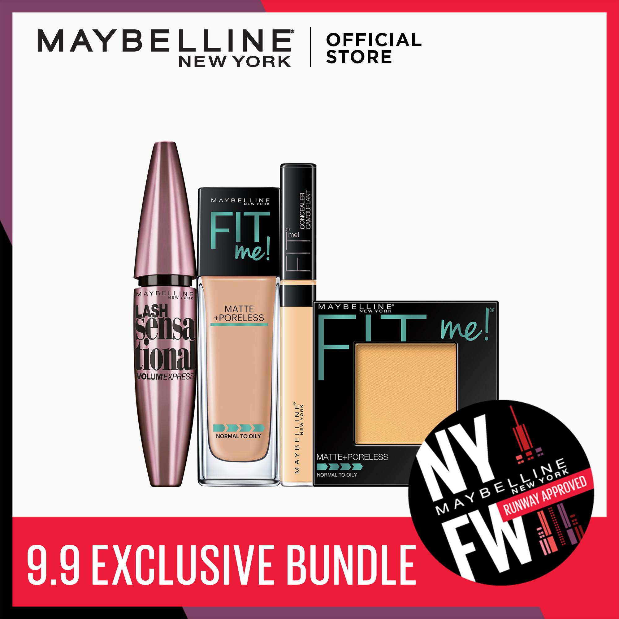 I Found My Fit: 220 Foundation + 220 Powder + 25 Concealer + Lash Sensational by Maybelline Fit Me Philippines
