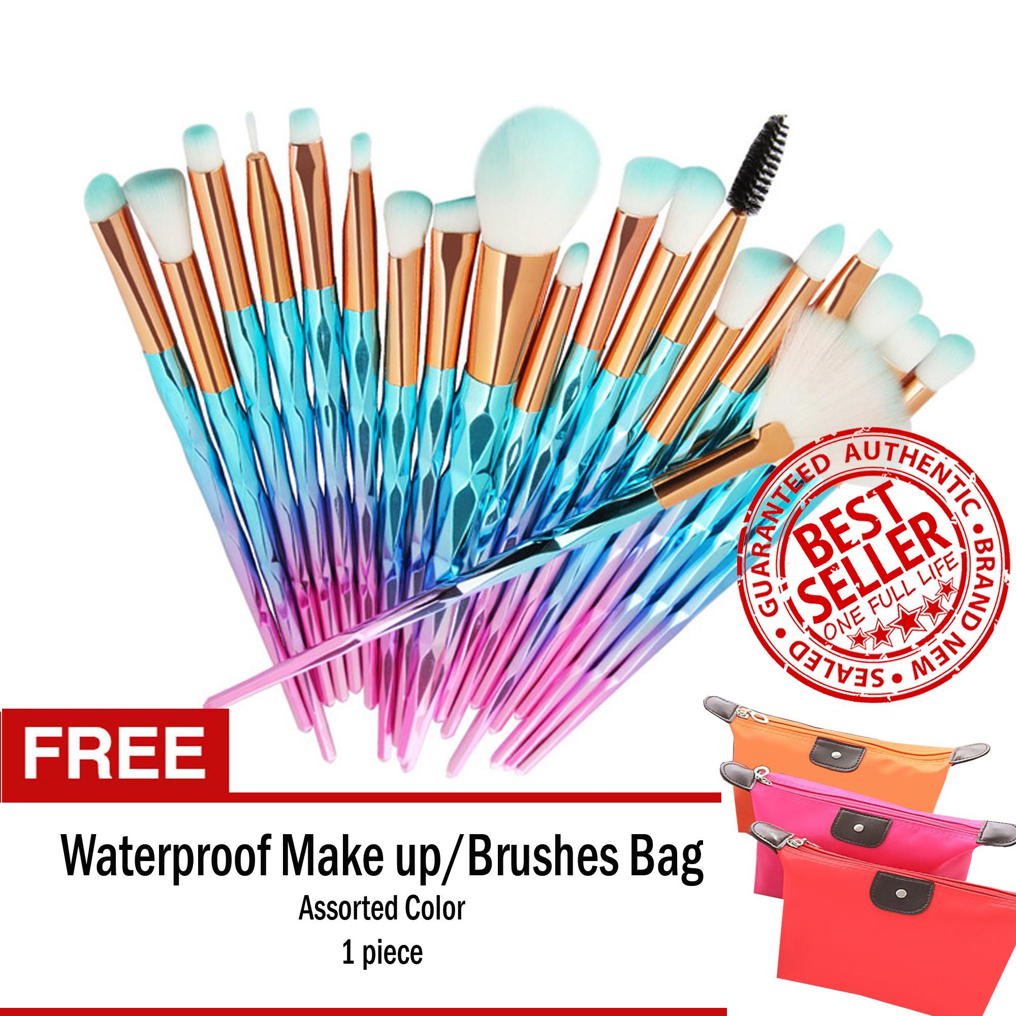Unicorn Makeup Brush Set 20-Piece MINT GREEN FREE Waterproof Make up Bag Philippines