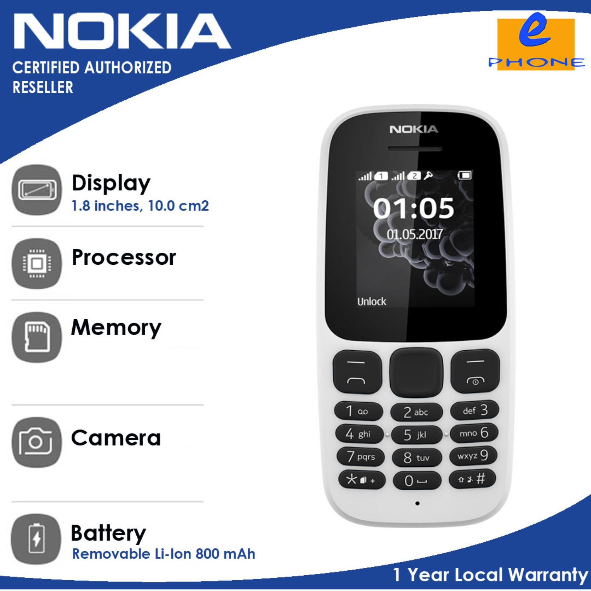 Buy Sell Cheapest Nokia 105 Blackt Best Quality Product Deals 2017 18 Inches 4mbram 800 Mah With 1 Year Local Warranty Authentic Original